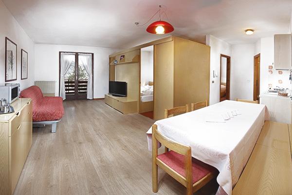 Appartamenti fino a 6 posti letto, in centro a Folgaria