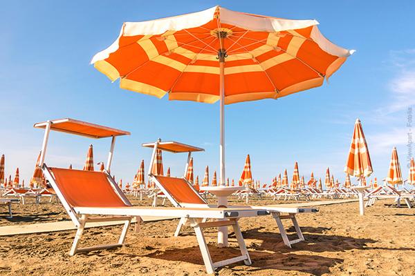 In posizione centrale, con servizio spiaggia