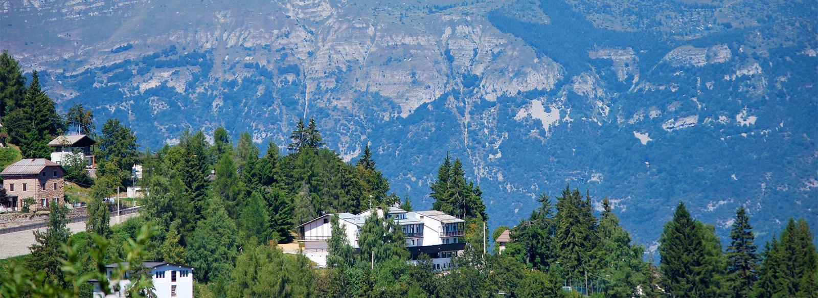 Sul Monte Bondone, a 1300 metri di altitudine