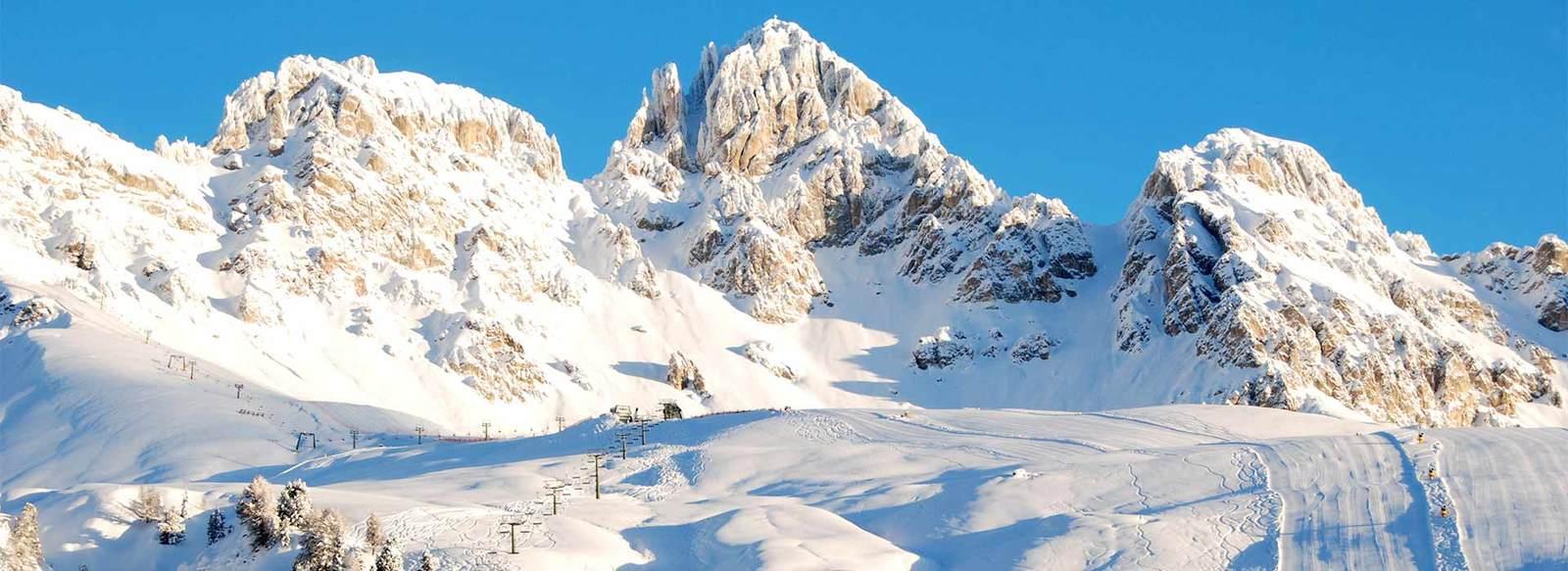 A 50 metri dalle piste, in Val di Fassa