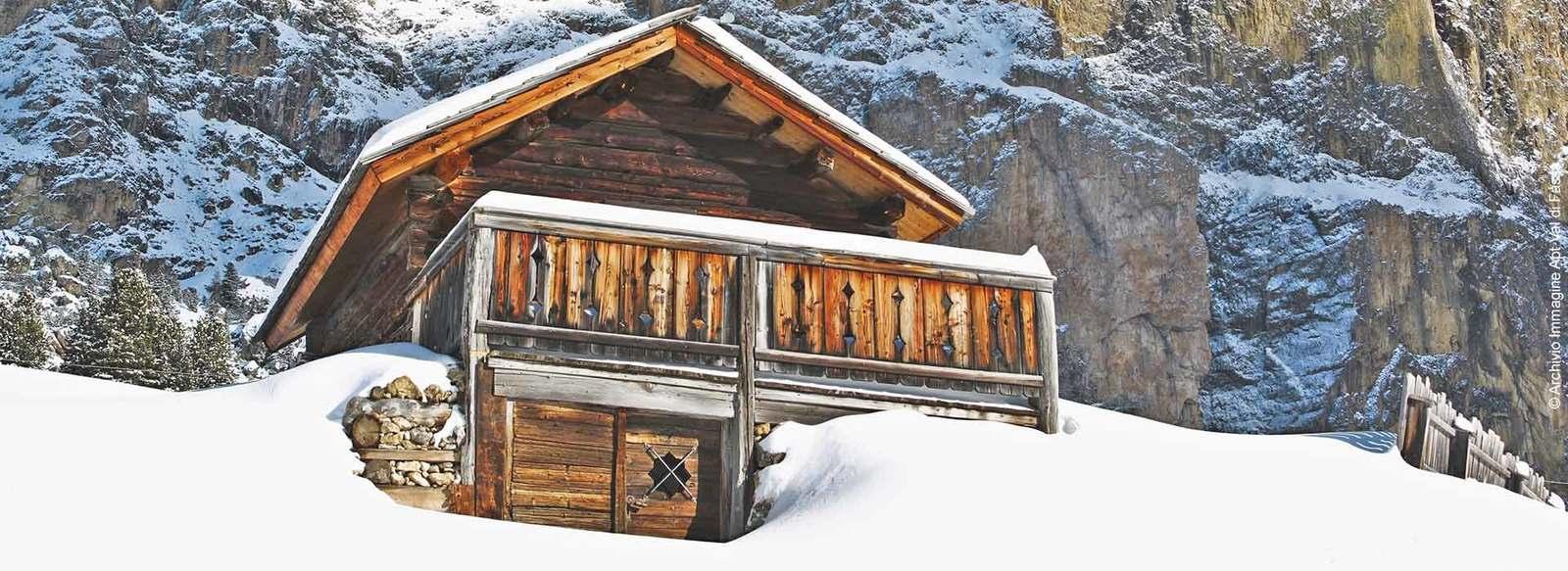 Posizione panoramica in Val di Fassa