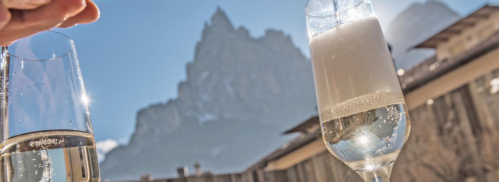 Ai piedi delle Alpi di Siusi