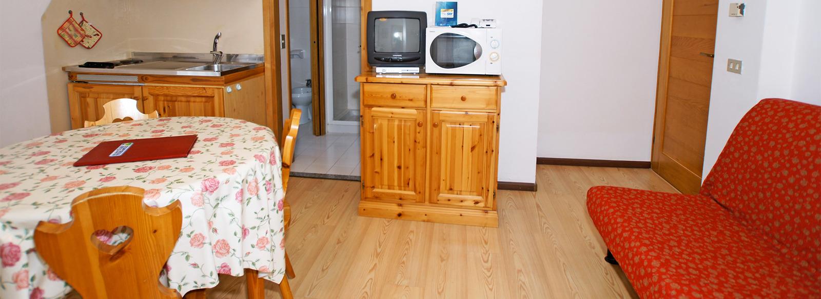 Residence 3* ai piedi delle Dolomiti, fino a 6 posti letto