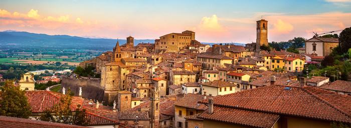 Nel centro storico di Arezzo