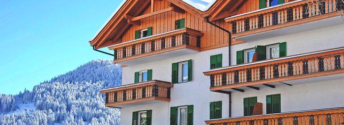 Posizione panoramica, in Val di Fassa