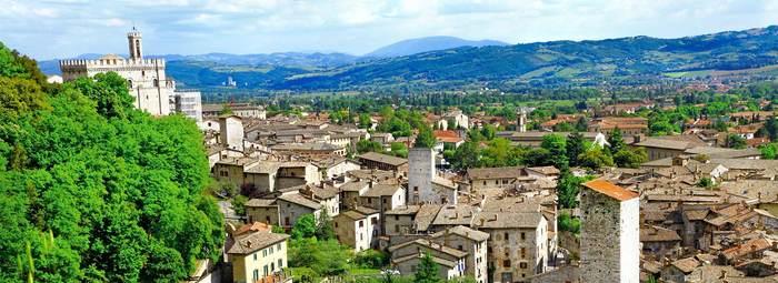 Nel centro storico di Gubbio