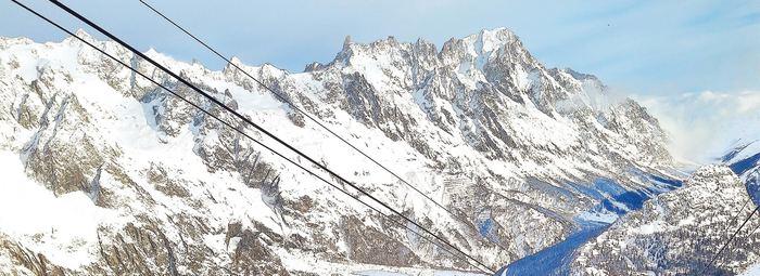Ai piedi del monte Bianco