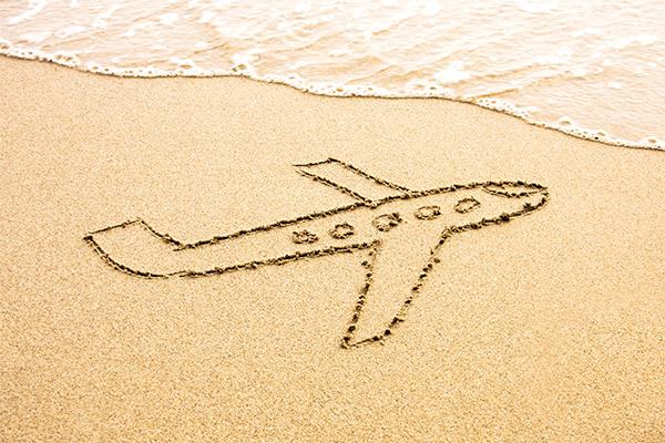 Il paradiso a portata di tutti, scegli l'aereo per un viaggio diretto.